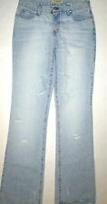 New Womens NWT Designer See by Chloe Jeans 29 Flare Jeans Paris Destroyed Light