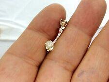 0.84Ct Genuine Natural Untreated Diamond Stud Earrings In Solid 14K Yellow Gold