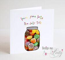 Love You Lots comme Jelly Tots st-valentin carte copine Boyfriend Mari Femme