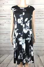 White House Black Market Size 12 Sheath Dress Floral Sleeveless Back Zipper