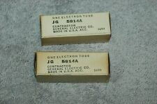 NEW OLD STOCK GE JG-5814A / 12AU7 MILITARY AGED TUBES, PAIR, SEALED PACKAGE,1954