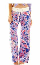 Lilly Pulitzer Iris Blue SHRIMPLY CHIC Relaxed Casual LINEN BEACH PANTS XS - NWT
