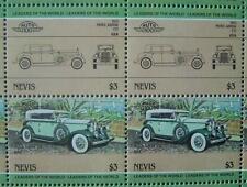 1932 PIERCE ARROW V12 Car 50-Stamp Sheet / Auto 100 Leaders of the World