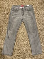 Guess Jeans Slim Straight Del Mar Fit Gray Mens Size 32x30 Vintage EUC!