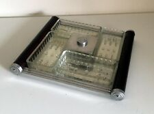French Art Deco Appetizer Set on Mirror Tray - Tableware Barware