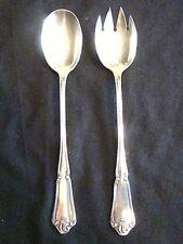 """couvert à salade en métal argenté de style """"Louis XV"""" de marque """"Saglier Frères"""""""