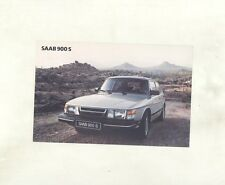 1983 Saab 900S ORIGINAL Factory Postcard my8400