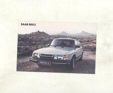 1983 Saab 900S ORIGINAL Factory Postcard my8400