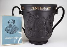 Royal Doulton Black Basalt Historic Loving Cup Charles Dickens