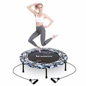 "2021 Upgraded Wamkos 40"" Rebounder Mini Trampoline for Adults 