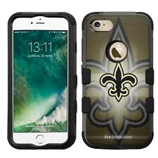 for Apple iPhone 7 Impact Armor Rugged Hybrid Cover Case New Orleans Saints #B