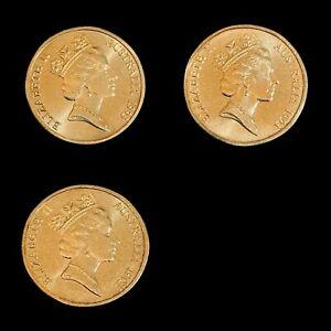 AUSTRALIA. 1993, Dollar - Lot of 3, Landcare, Separate Mints (1 Die Clash)