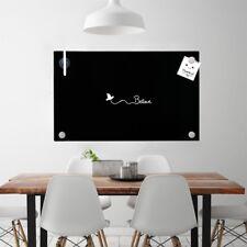 Melko Glasmagnettafel Whiteboard Magnetwand Schreibtafel 100x60cm schwarz