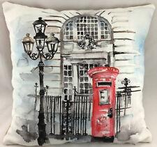 Post Box Watercolour Theme FILLED Evans Lichfield Cushion