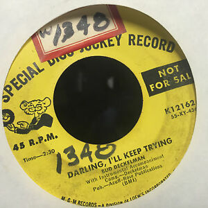 """Bud Deckelman Darling I'll Keep Trying / Yesterday Today 7"""" Country Bop Rare"""