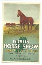 Dublin Horse Show 1953 Vintage Original Postcard