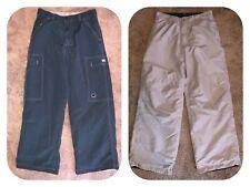 VTG Macgear Reversible Digital Navy Gray Baggy Wide Leg Pants JNCO GOTH RAVE 32