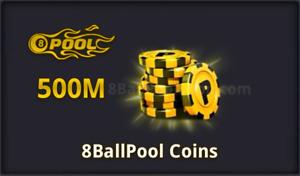 8Ball Pool - 500 Million Coins 🔥 Fast delivery - Legit 100% 🔥 Read description