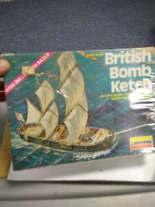 Vintage LINDBERG British Bomb Ketch Model Kit #896 (Sealed)