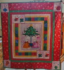 Cute Mice Norton's First Christmas Handmade Quilt