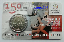 België speciale 2 euro 2014 Rode Kruis in Coincard Waals