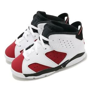 Nike Jordan 6 Retro TD VI Carmine White Black Toddler Infant Shoe AJ6 384667-106