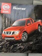 2017 NISSAN Frontier 20-page Original Sales Brochure