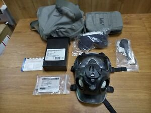 AVON M-50 Gas Mask Medium with Case, Filters, And Accessories