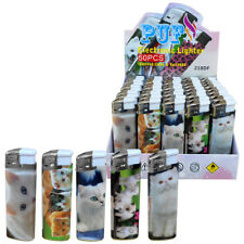 More details for 50 x refillable electronic lighter with cute white kittens designs (070)