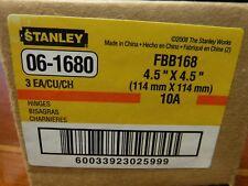 Stanley PN: FBB168 Door Hinge (Set of 3) Stl Template Hinge 06-1680 (NEW)