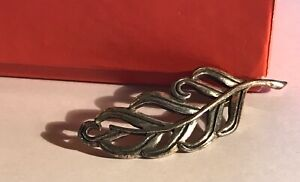 JAMES AVERY RETIRED 925 STERLING SILVER OPEN FEATHER PIN BROOCH
