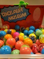 Vintage 9 Dinosaur Puzzles in Capsules Vending Machine Toy Prizes New Old Stock