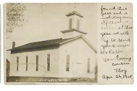 RPPC Baptist Church in ERIN NY New York Real Photo Postcard