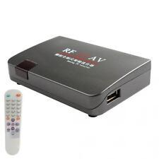 RF to AV Analog TV Receiver Box Video Converter Adapter Channel Selector