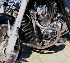 STAINLESS STEEL CUSTOM CRASH BAR ENGINE GUARD+PEGS HONDA VTX 1800 CUSTOM