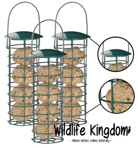 "Heritage Wild Bird Suet Fat Ball Hanging Feeder Garden Feeders Seed Metal 10"""