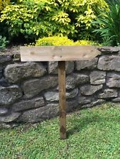 Small Wooden Wedding Sign, Finger Posts, Venue Sign