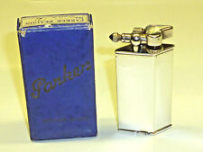 "PARKER Beacon ""The Efficient Lighter"" silver en boite d'origine -1932 - Angleterre-RARE"