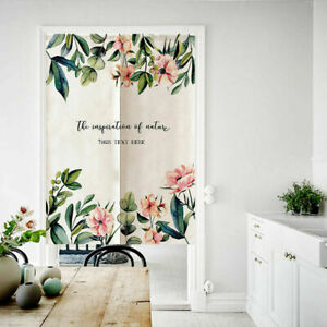 1PC Door Curtains Door Drapes Home Decor Botanical Floral Patterns Tapestry