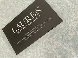 Lauren by RALPH LAUREN White Green King KING Sheet Set 100% Cotton Extra Deep
