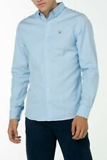 Gant Men`s Shirts Size S Tech Prep Wool Solid Reg