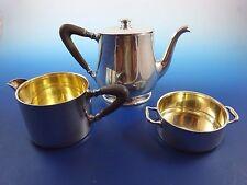 Small Sterling Silver Teapot, Creamer and Sugar Bowl