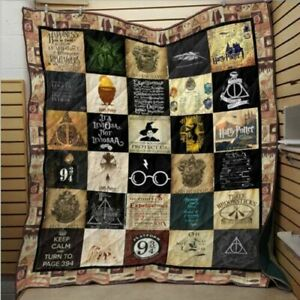 Harry Potter House Badge Bedding Quilt Washable Cotton Blanket Throws All Sizes