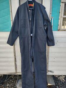 Men's Red Kat 48 Regular Long Sleeve Mechanic Work NON INSULATED Coveralls