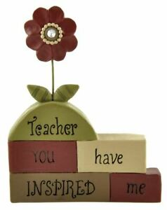 Blossom Bucket Teacher Resin Angel Shelf Sitter You Have Inspired Me Mini Sign