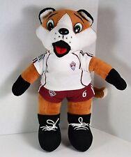 "Colorado Rapids Soccer MLS Franz the Fox #6 Plush 10"" tall in Burgundy & White"