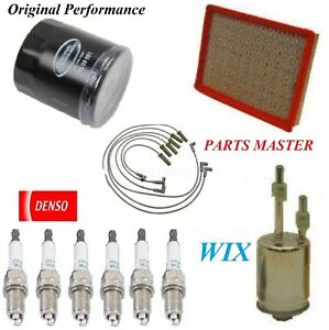 Tune Up Kit Air Oil Fuel Filters Spark Plugs For PONTIAC GRAND PRIX V6;3.8L 2004