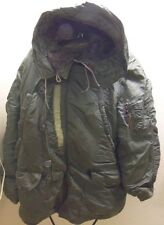 N-3B Flight Coat, Cold Weather Parka, long warm Large 1970's Viet Nam Issue