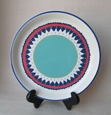 Dansk CARNIVAL Dinner Plate Turquoise Blue Coral & White Excellent Condition