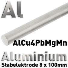 Duraluminium-ánodo en aw-2007 8 x 100 mm redondo vara alrededor de barra 3.1645 Alcu 4 pbmgmn